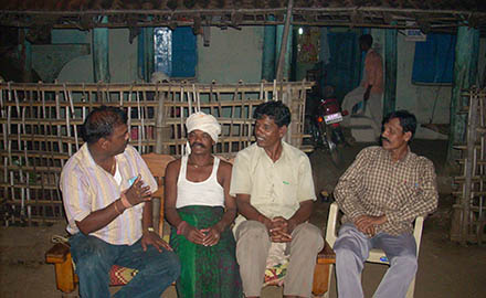 AGVSS President Mr. Pande ji having interactions with tribal community members