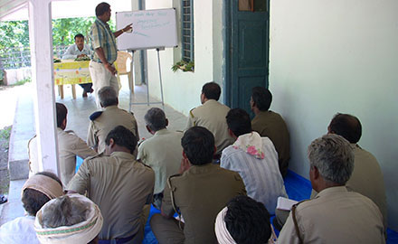 AGVSS president imparting training under VPM to forest officials