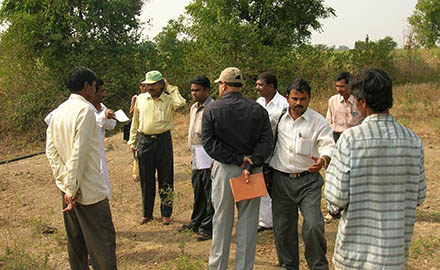 Mr. Rao, NABARD visit to field