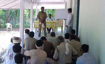 Training of forest department employees under VPM at Rangubelli, Dharni Melghat